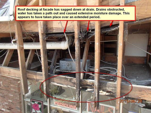 Inspection of Commercial facility under repair