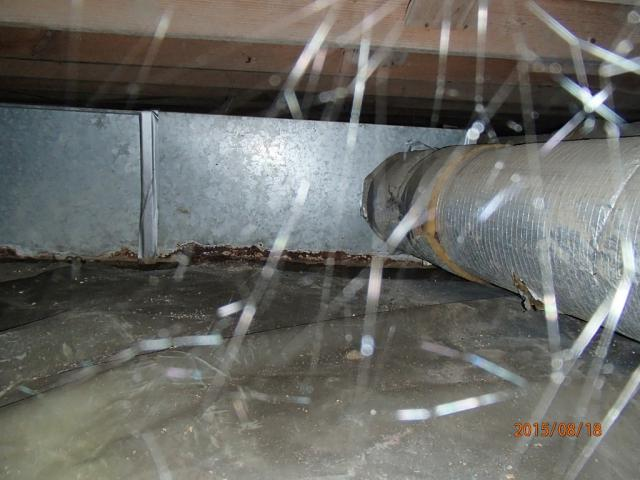 Corroded ductwork